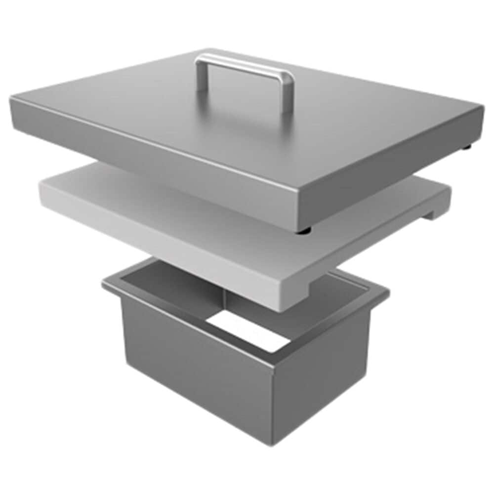 Hestan Outdoor Countertop Trash Chute with Cutting Board in Stainless Steel, , large