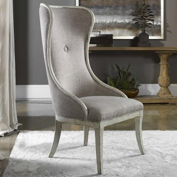 Uttermost Selam Wing Chair in Flax Linen, , large