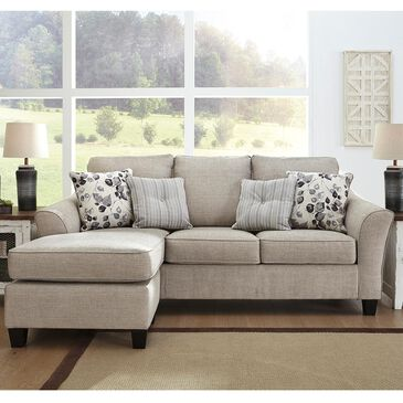 Signature Design by Ashley Abney Sofa with Chaise in Driftwood, , large