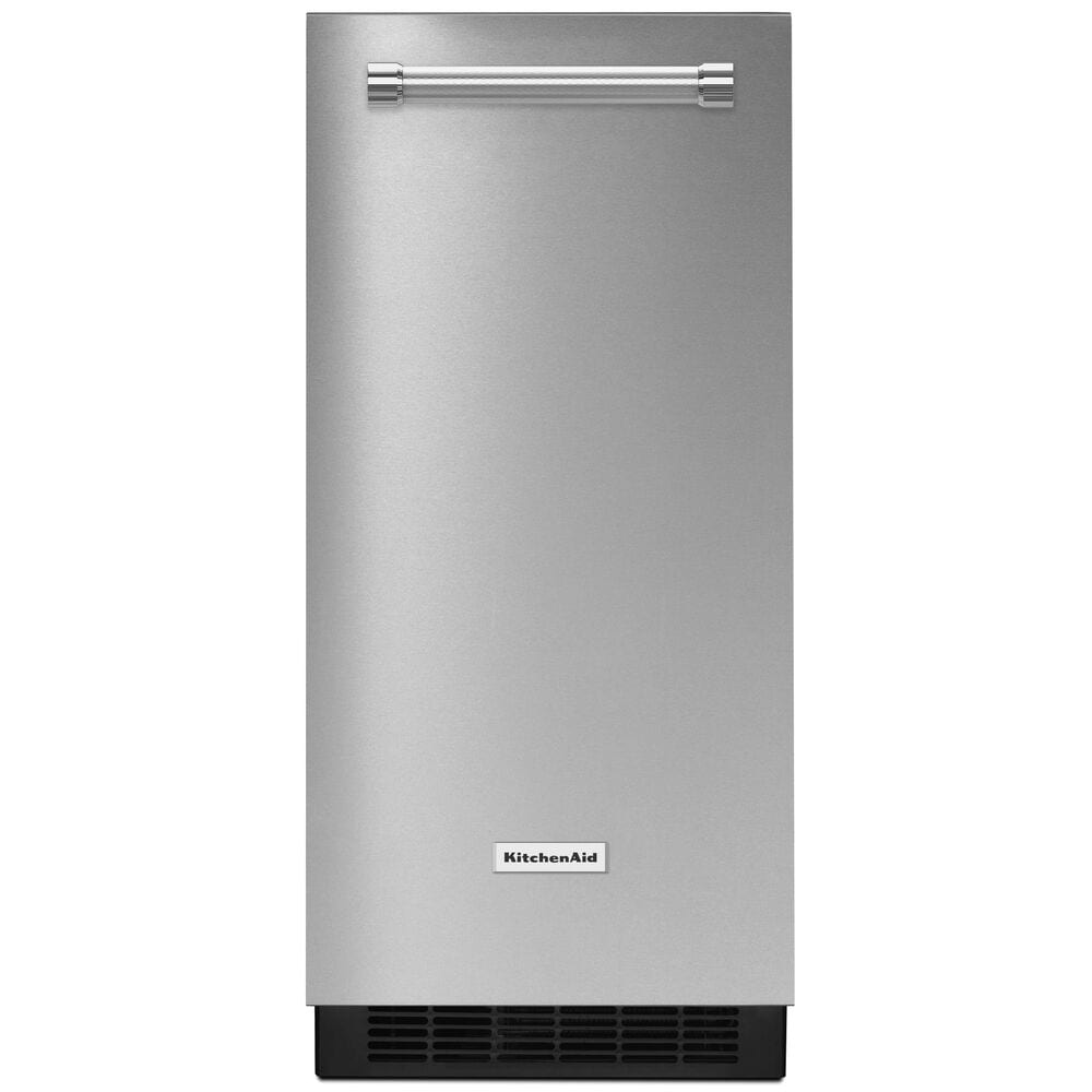 """KitchenAid 15"""" Automatic Ice Maker with PrintShield Stainless Finish , , large"""
