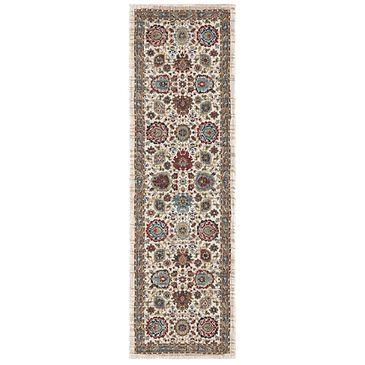 "Karastan Spice Market 91197-70033 2'4"" x 7'10"" Musi Cream Runner, , large"