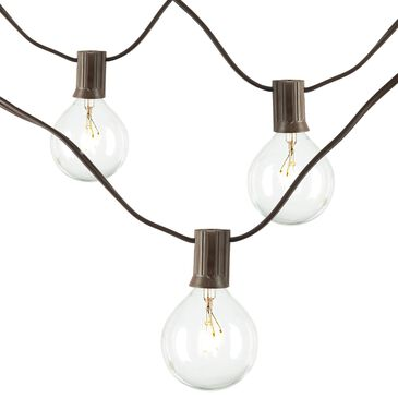 The Gerson Company 20' Electric Patio Light String in Brown and Clear - Set of 2, , large