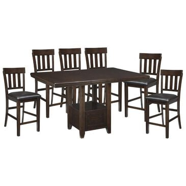 Signature Design by Ashley Haddigan 7-Piece Counter Height Dining Set in Dark Brown, , large