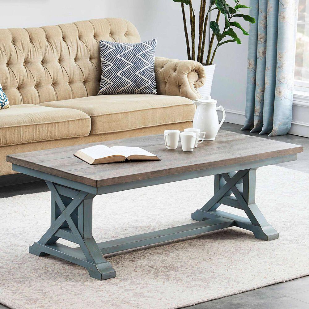 Shell Island Furniture Bar Harbor Coffee Table in Bar Harbor Blue, , large