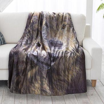 Timberlake Lavish Home Wolf Pattern Sherpa Fleece, , large