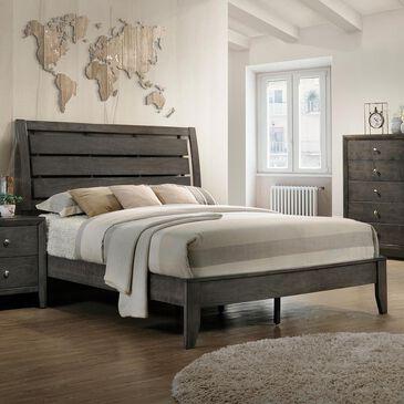Claremont Evan King Sleigh Bed in Dark Grey, , large