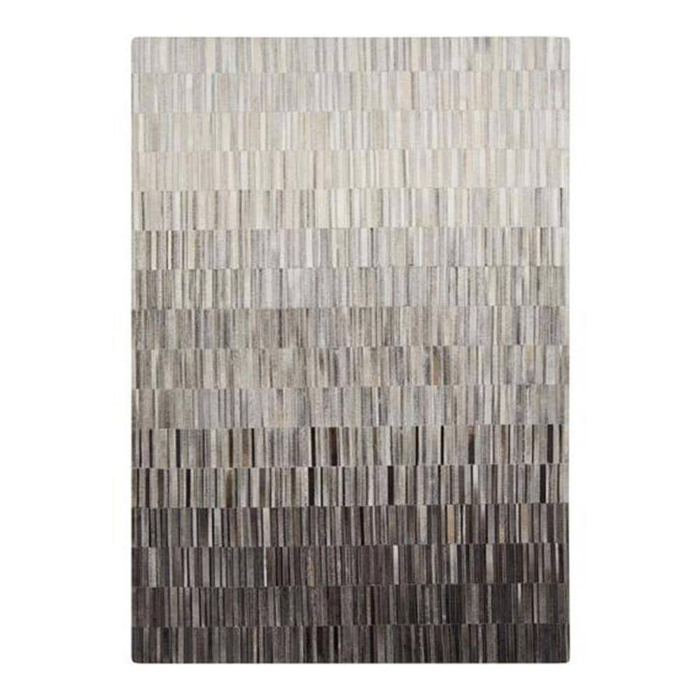 """Surya Outback OUT-1010 5"""" x 8"""" Gray/Ivory/Camel Hide Area Rug, , large"""