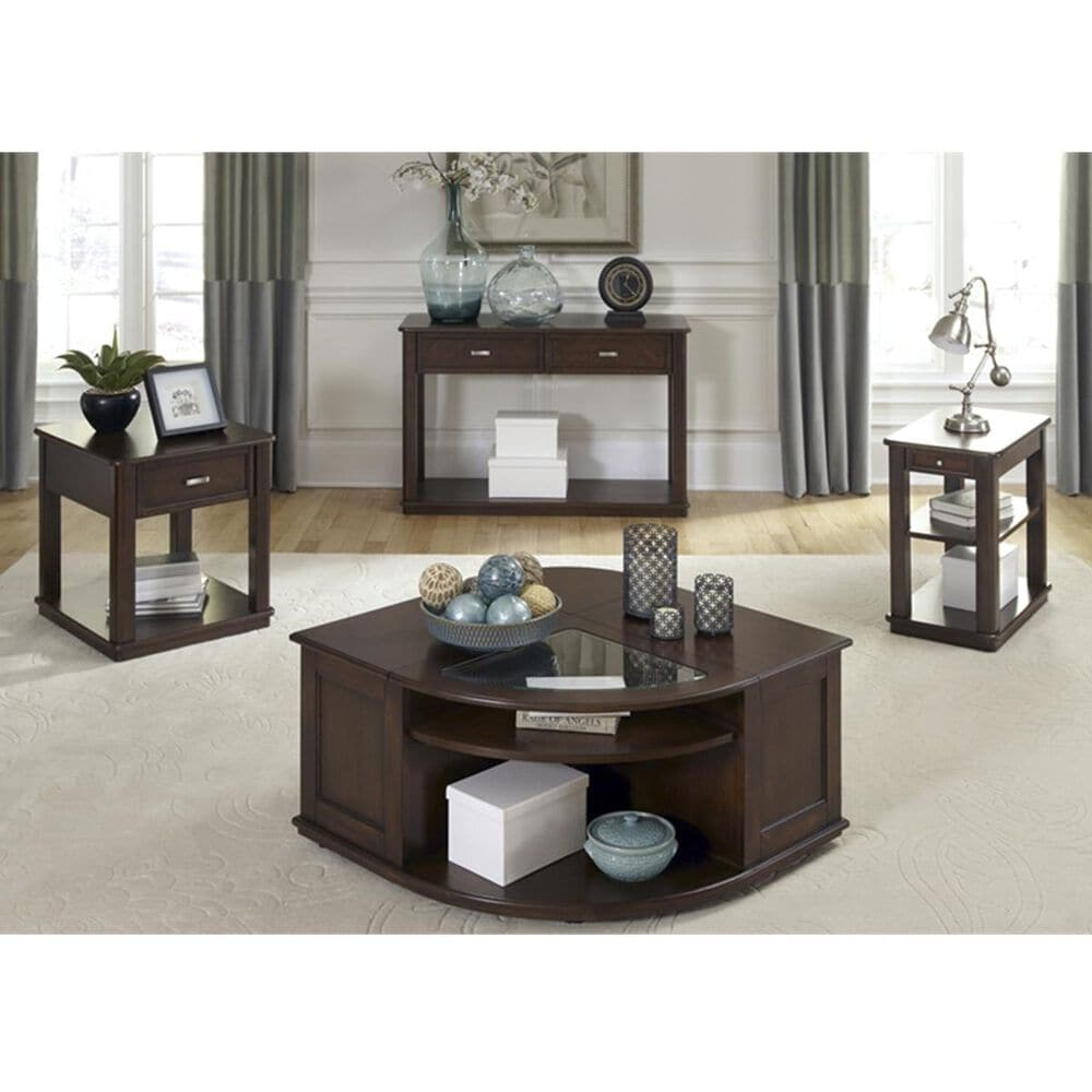Belle Furnishings Wallace Sofa Table in Dark Toffee, , large