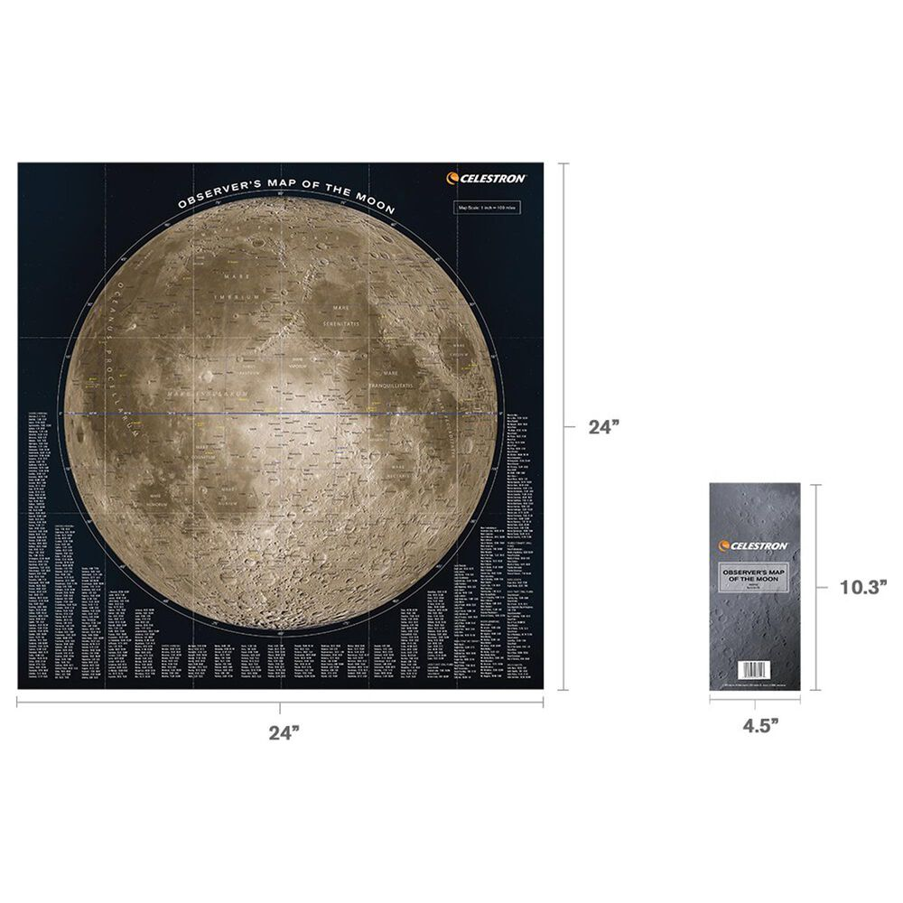 Celestron Deluxe Folding Moon Map, , large