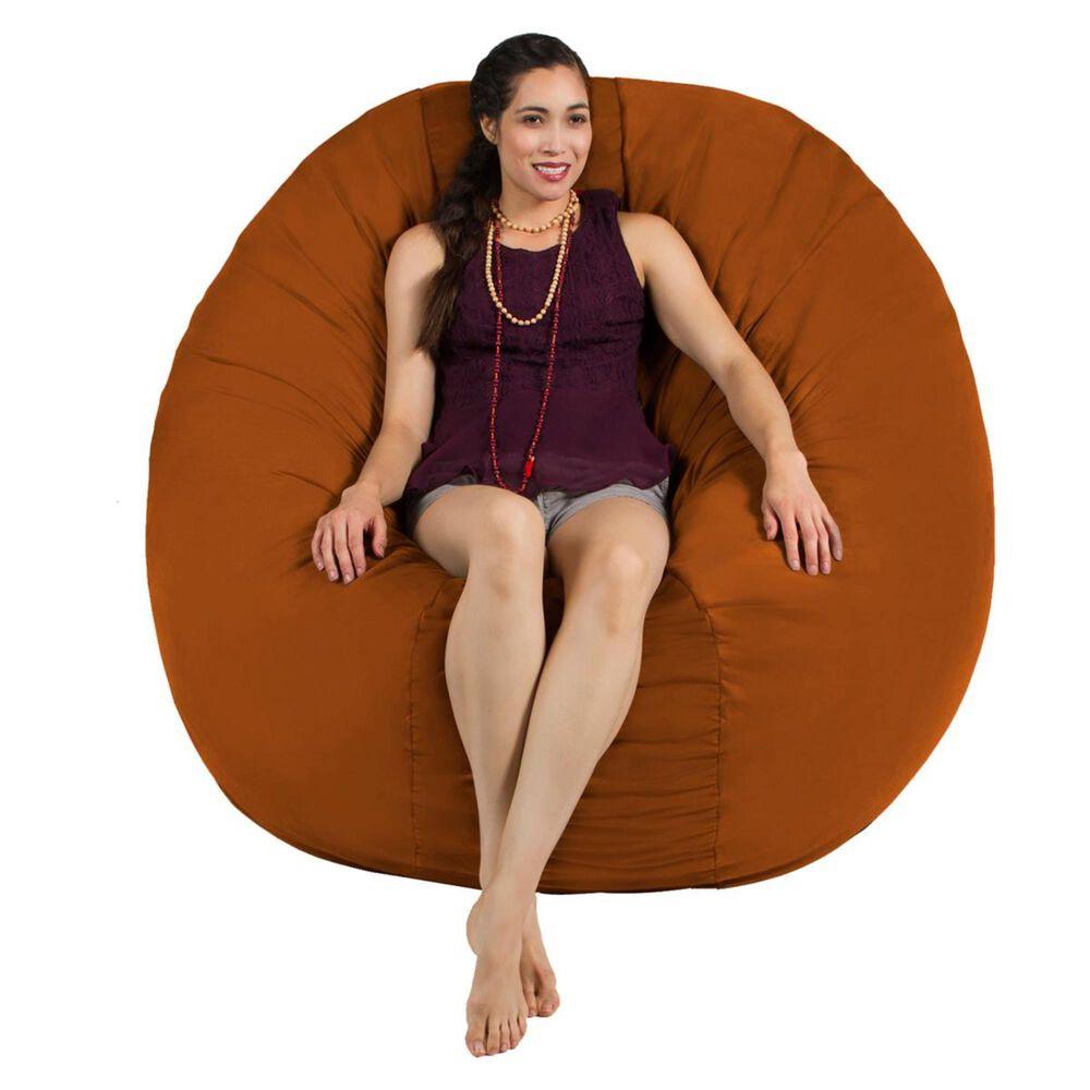 Jaxx 6' Cocoon Large Bean Bag Chair in Mandarin, , large