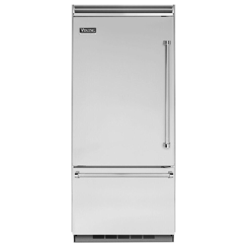 "Viking Range 36"" Bottom Freezer Refrigerator with Left Hinge in Stainless Steel, , large"