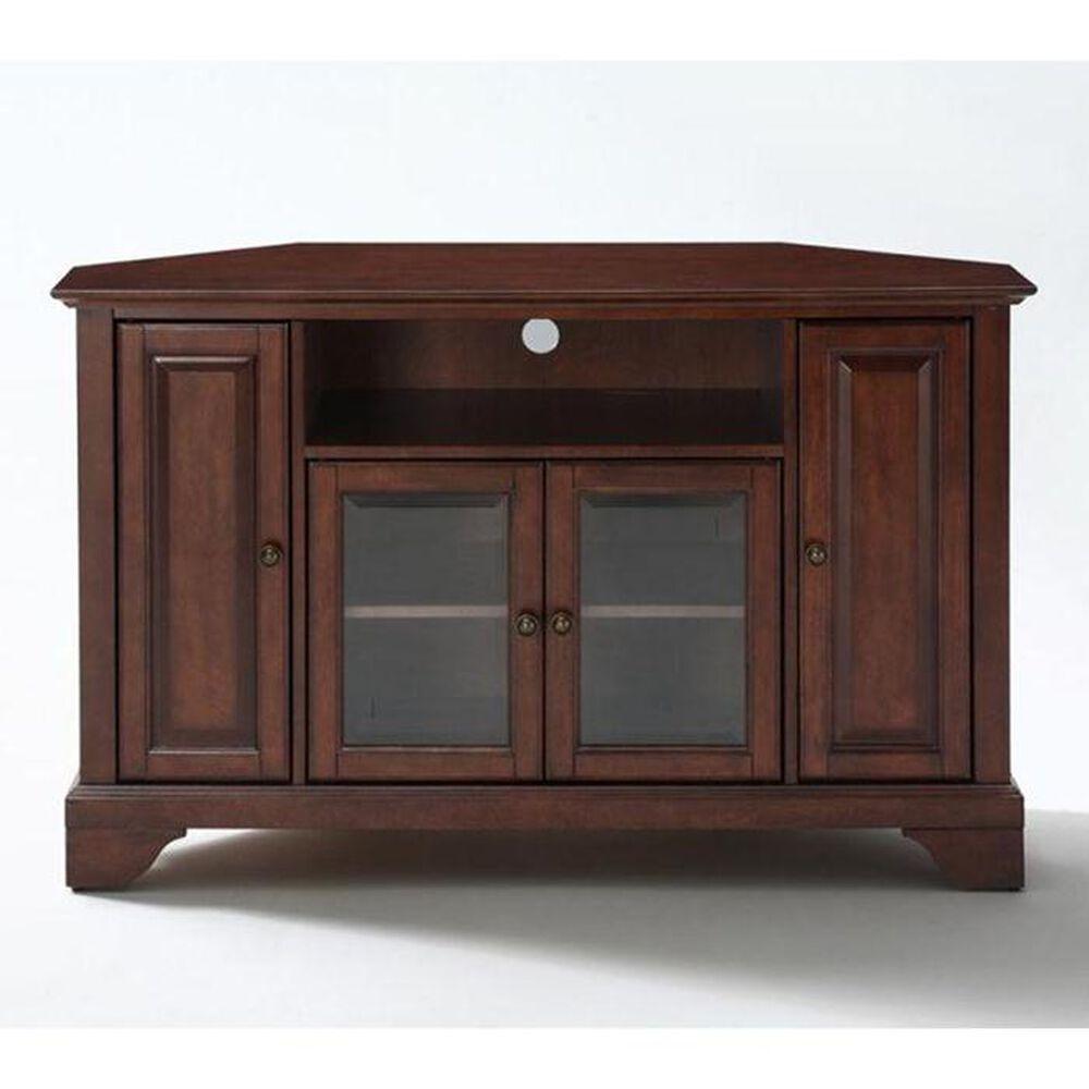 "Crosley Furniture LaFayette 48"" Corner Console in Vintage Mahogany, , large"