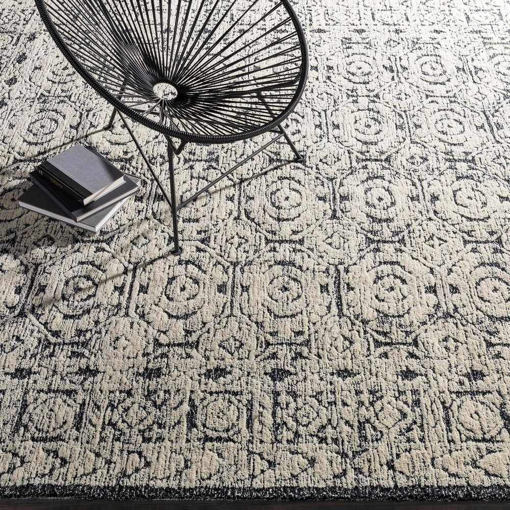 """Surya Louvre LOU-2303 5' x 7'6"""" Black, Ivory and Cream Area Rug, , large"""
