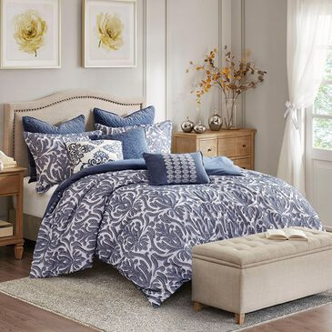 Hampton Park Maison 8-Piece Queen Comforter Set in Blue, , large