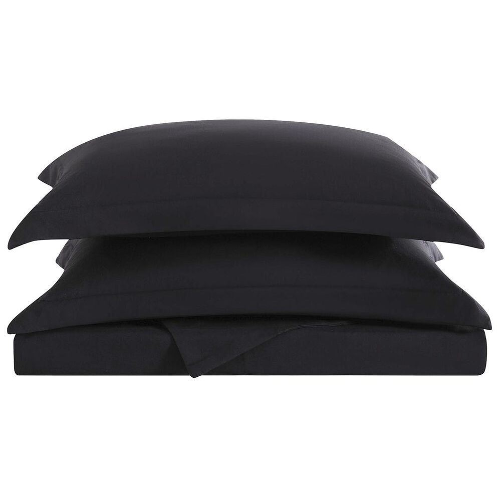 Pem America Truly Soft Everyday 3-Piece Full/Queen Duvet Set in Black, , large