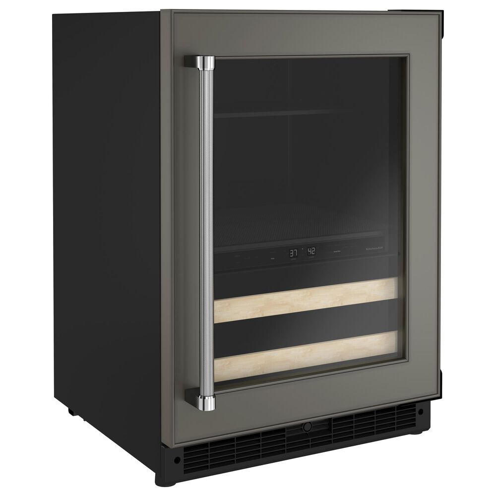 """KitchenAid 24"""" Beverage Center with Right Hinge and Wood-Front Racks in Panel-Ready, , large"""