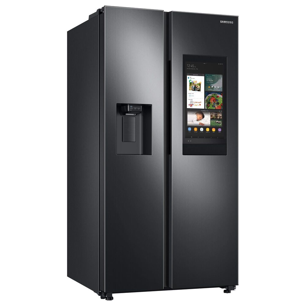 Samsung 2-Piece Kitchen Package with 26.7 Cu. Ft. Side-By-Side Refrigerator and StormWash Dishwasher in Black Stainless Steel, , large