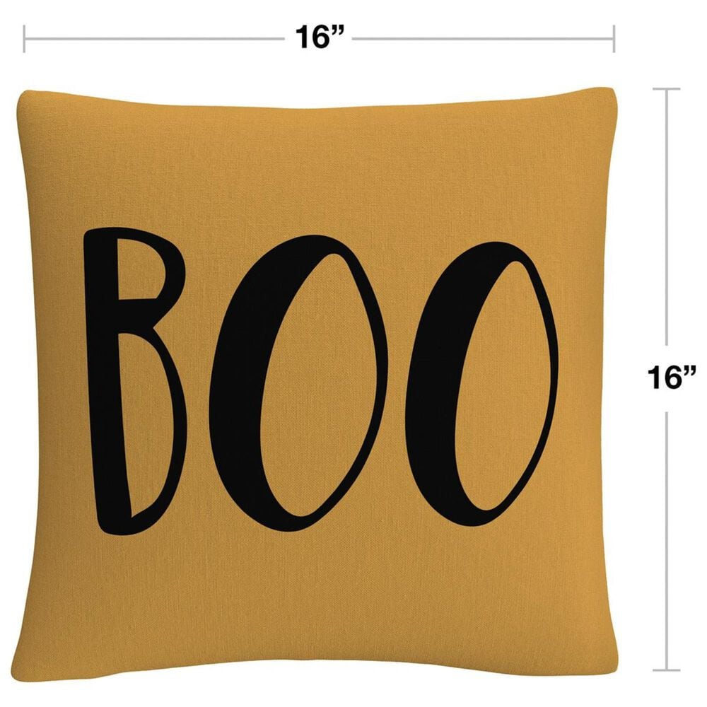 """Timberlake Orange Modern Contemporary Boo Script By ABC 16"""" Decorative Throw Pillow, , large"""