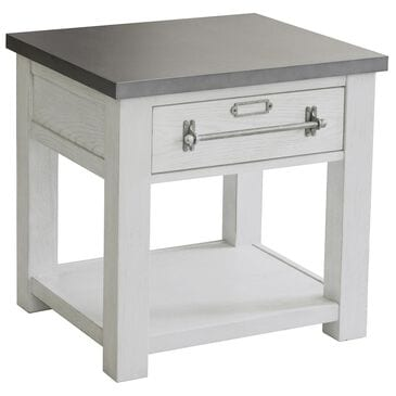 Accentric Approach Modern Authentics End Table in White Oak, , large