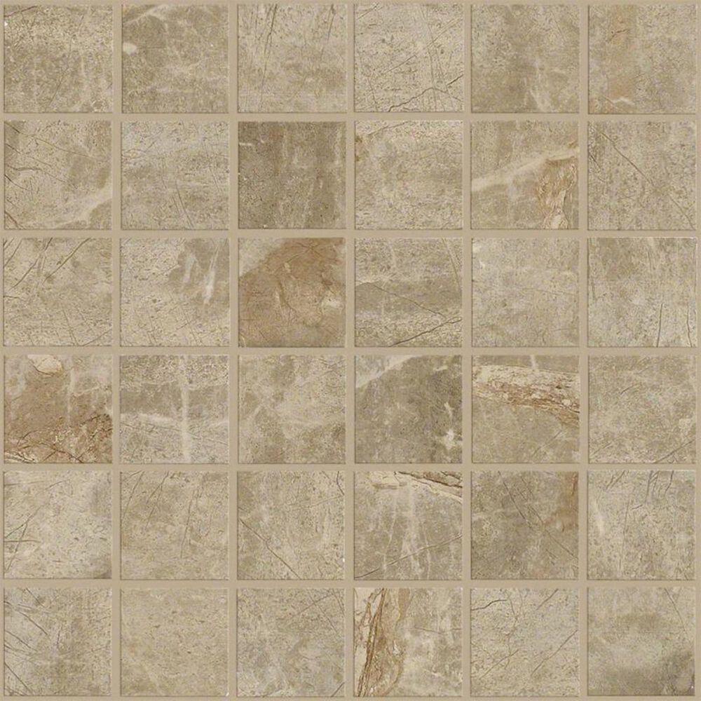 "Shaw Zenith Brown 13""x13"" Mosaic Tile, , large"