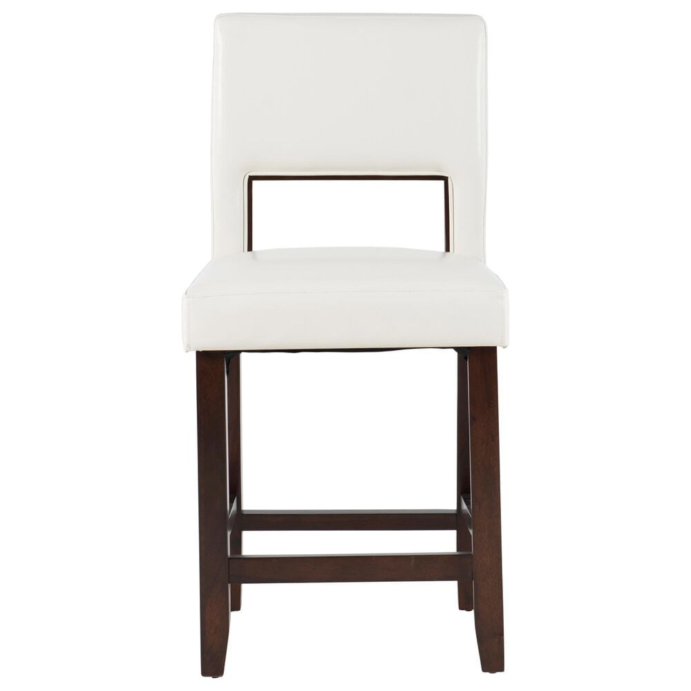 Linden Boulevard Bailie Counter Stool in White, , large
