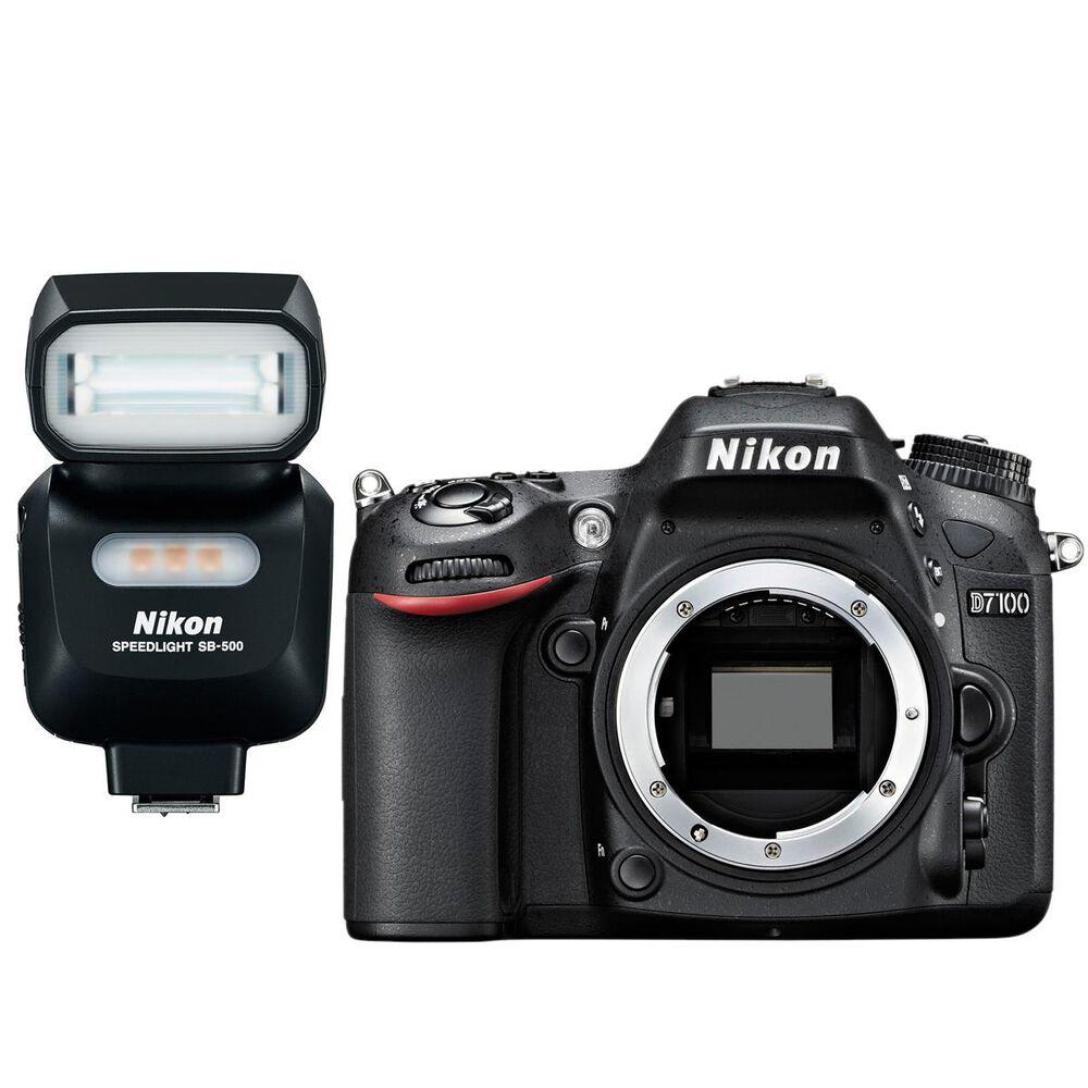 Nikon D7100 DSLR Camera with SB500 Speedlight, , large