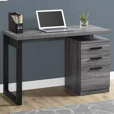 "Monarch Specialties 48"" Computer Desk in Grey and Black, , large"