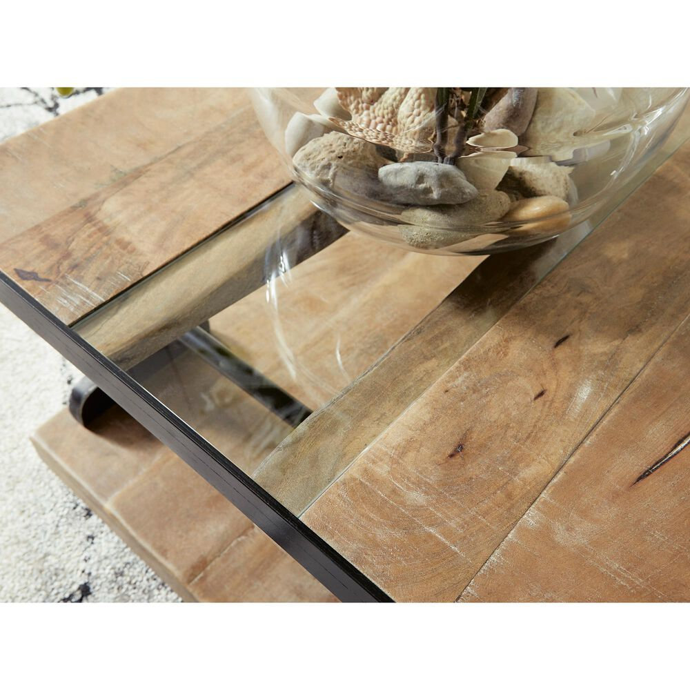 Signature Design by Ashley Calkosa Coffee Table in Brown and Black, , large