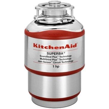 KitchenAid Continuous Feed Disposer 1 Horsepower Motor MultiGrind Plus Technology, , large