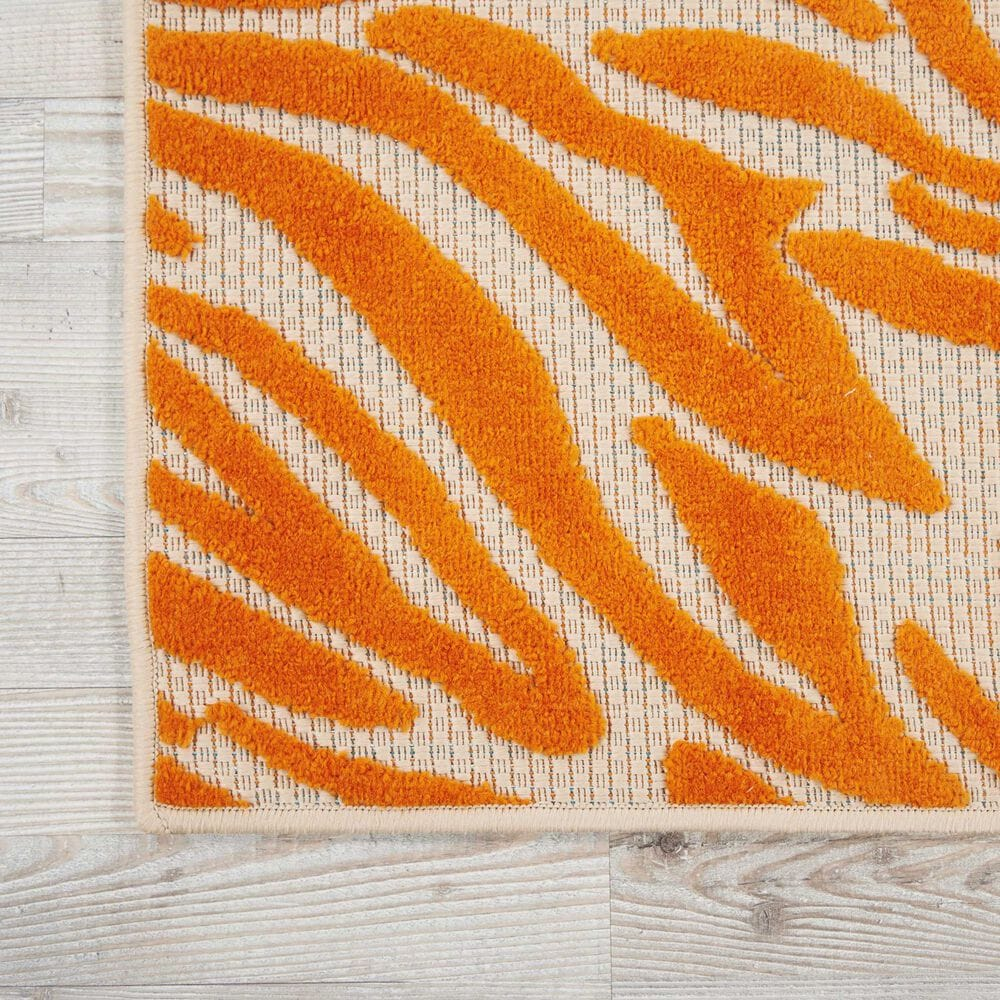 "Nourison Aloha ALH04 9'6"" x 13' Orange Area Rug, , large"