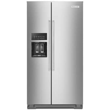 KitchenAid 24.8 Cu. Ft. Side-by-Side Refrigerator with Exterior Ice and Water in Stainless Steel with PrintShield Finish, , large
