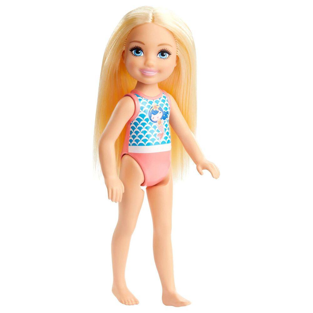 Mattel Barbie Club Chelsea Beach Doll Blonde Mermaid, , large