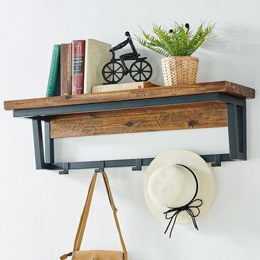 "Bolton Furniture Claremont 40"" Coat Hook with Shelf in Black/Dark Brown, , large"