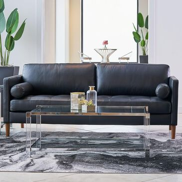 Mayberry Hill Stockholm Leather Sofa in Fiero Black, , large