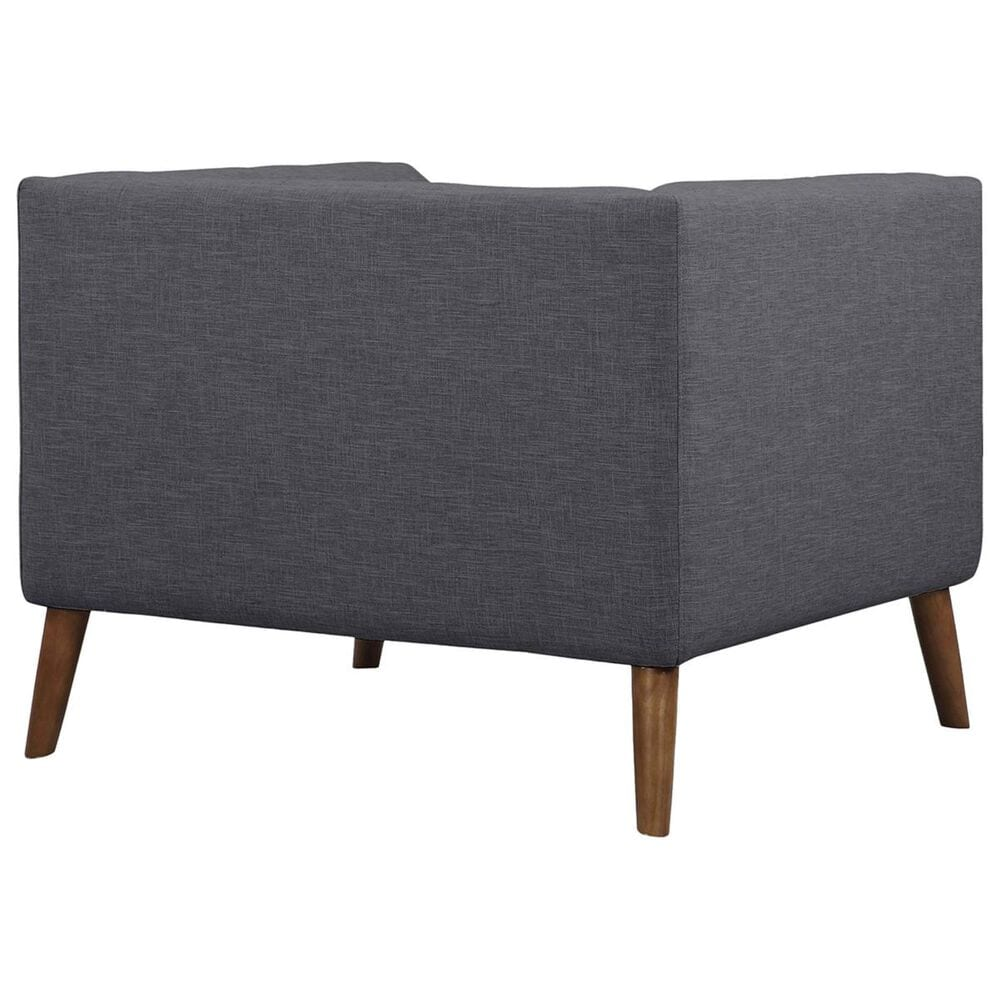 Blue River Hudson Chair in Dark Gray and Walnut, , large