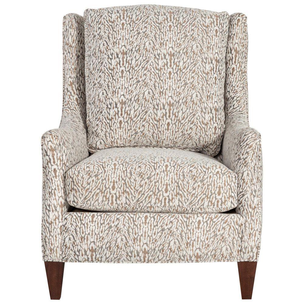 Sam Moore Club Chair in Tan Print, , large