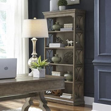 Belle Furnishings Simply Elegant Bookcase in Heathered Taupe, , large