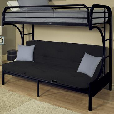 Gunnison Co. Eclipse Twin XL over Queen Futon Bunk Bed in Black, , large