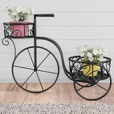 Timberlake Pure Garden 2-Tier Plant Stand in Matte Black, , large