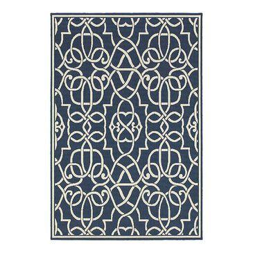 """Oriental Weavers Meridian 2205B 3'7"""" x 5'6"""" Navy Area Rug, , large"""
