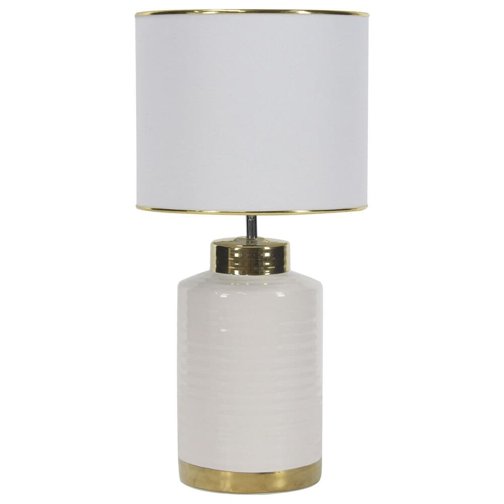 Maple and Jade Ceramic Table Lamp in White, , large