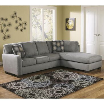 Signature Design by Ashley Zella 2-Piece Sectional with Right Arm Facing in Charcoal, , large