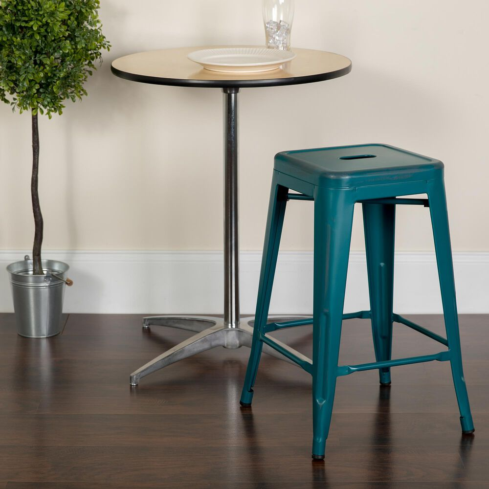 """Flash Furniture 24"""" Counter Stool in Blue, , large"""
