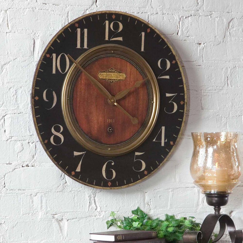 "Uttermost Alexandre 23"" Clock, , large"