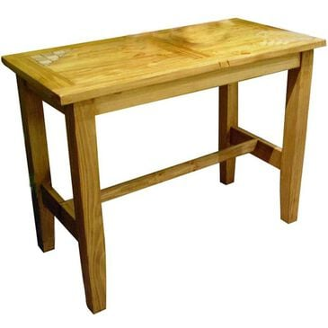 Santa Fe Rustic Rustic Furniture Counter Height Table in Light Wax - Table Only, , large