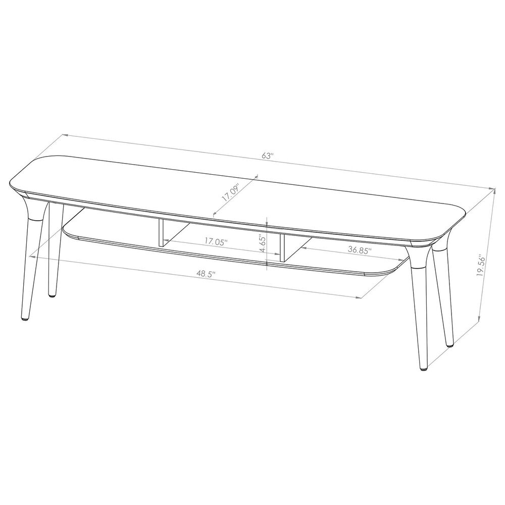 """Dayton HomeDock 62.99"""" TV Stand in Off White/Cinnamon, , large"""