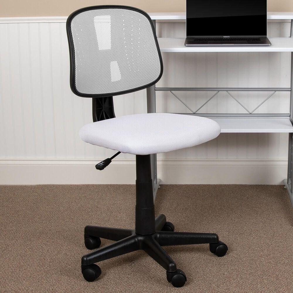 Flash Furniture Flash Fundamentals Swivel Task Chair in White, , large