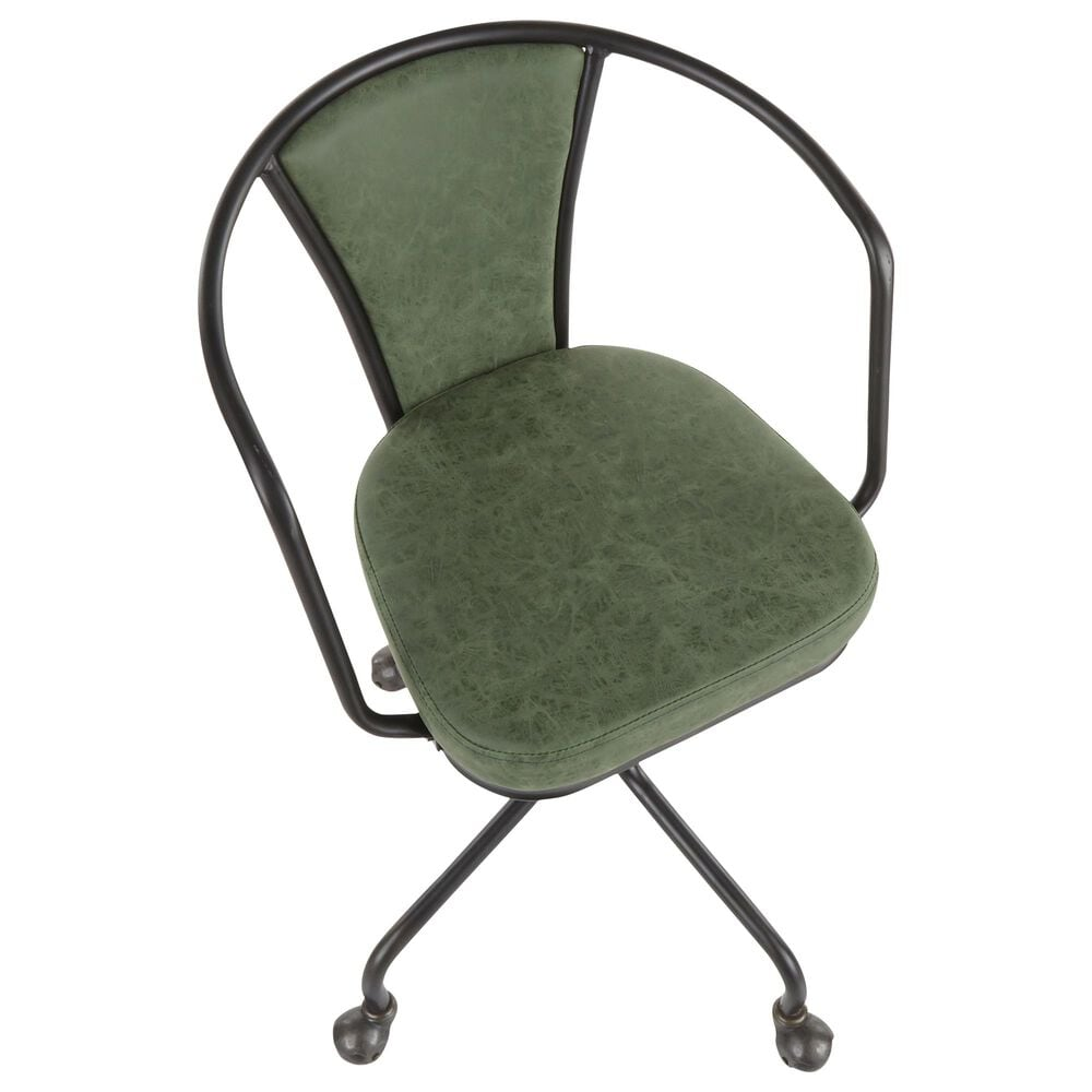 Lumisource Oregon Task Chair in Green/Black, , large