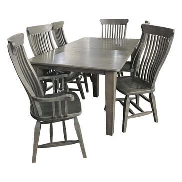Daniel's Amish Collection Old Country 7-Piece Dining Set in Gray Stone, , large
