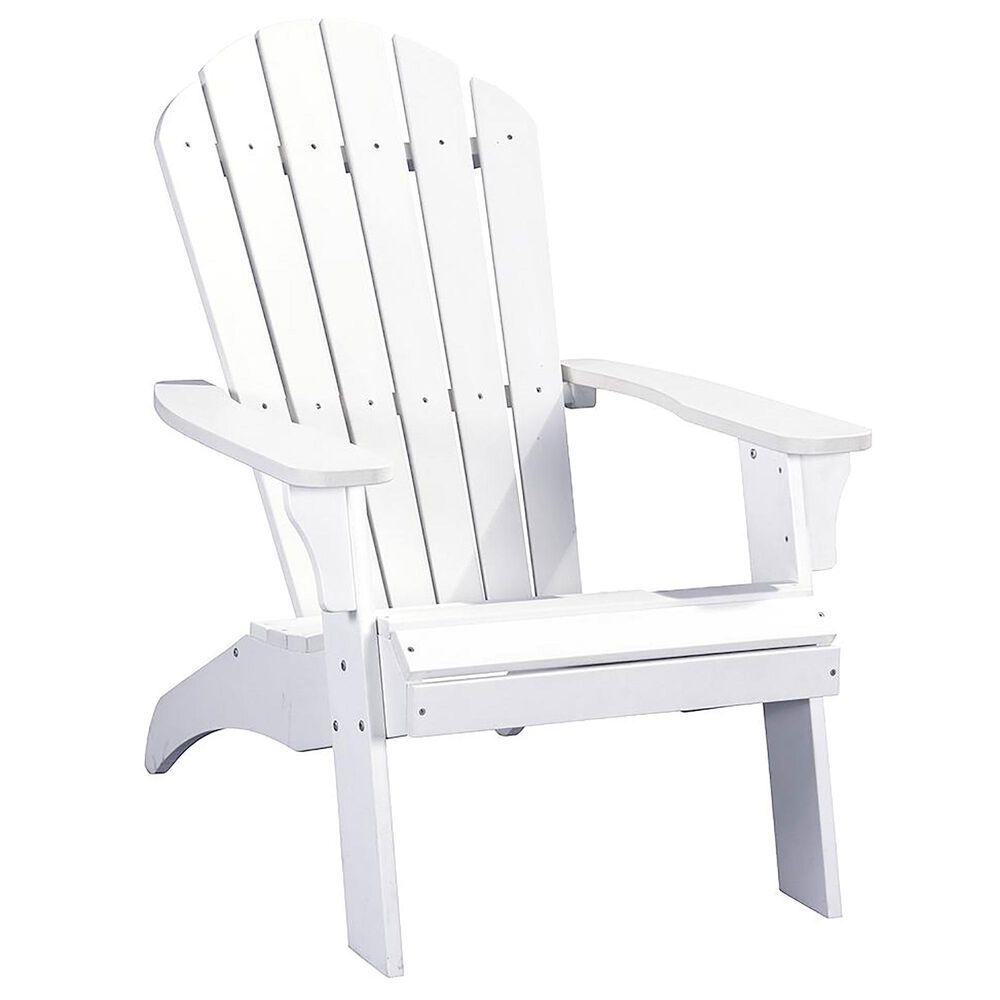 RedOak Creations King Size Adirondack Chair in White, , large